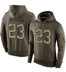 NFL Nike Arizona Cardinals #23 Adrian Peterson Green Salute To Service Men's Pullover Hoodie