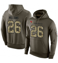 NFL Nike Arizona Cardinals #26 Brandon Williams Green Salute To Service Men Pullover Hoodie