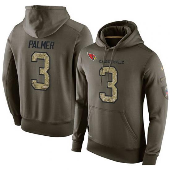NFL Nike Arizona Cardinals #3 Carson Palmer Green Salute To Service Men Pullover Hoodie