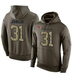 NFL Nike Arizona Cardinals #31 David Johnson Green Salute To Service Men Pullover Hoodie
