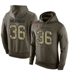 NFL Nike Arizona Cardinals #36 D. J. Swearinger Green Salute To Service Men's Pullover Hoodie