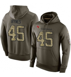 NFL Nike Arizona Cardinals #45 Josh Bynes Green Salute To Service Men's Pullover Hoodie