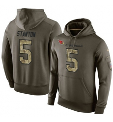 NFL Nike Arizona Cardinals #5 Drew Stanton Green Salute To Service Men Pullover Hoodie