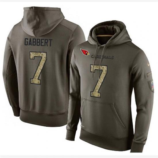 NFL Nike Arizona Cardinals #7 Blaine Gabbert Green Salute To Service Men Pullover Hoodie