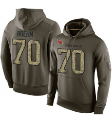 NFL Nike Arizona Cardinals #70 Evan Boehm Green Salute To Service Men's Pullover Hoodie