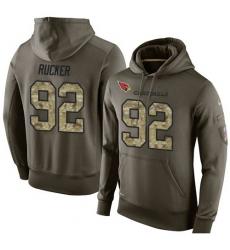 NFL Nike Arizona Cardinals #92 Frostee Rucker Green Salute To Service Men Pullover Hoodie