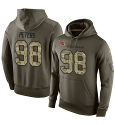 NFL Nike Arizona Cardinals #98 Corey Peters Green Salute To Service Men Pullover Hoodie