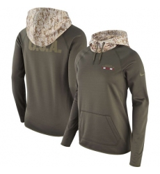 NFL Women's Arizona Cardinals Nike Olive Salute to Service Performance Pullover Hoodie