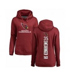 NFL Women's Nike Arizona Cardinals #35 D.J. Swearinger SR Maroon Backer Pullover Hoodie