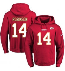 NFL Men's Nike Kansas City Chiefs #14 Demarcus Robinson Red Name & Number Pullover Hoodie