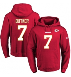 NFL Men's Nike Kansas City Chiefs #7 Harrison Butker Red Name & Number Pullover Hoodie