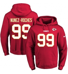 NFL Men's Nike Kansas City Chiefs #99 Rakeem Nunez-Roches Red Name & Number Pullover Hoodie