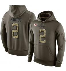 NFL Nike Kansas City Chiefs #2 Cairo Santos Green Salute To Service Men's Pullover Hoodie