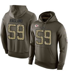 NFL Nike Kansas City Chiefs #59 Reggie Ragland Green Salute To Service Men's Pullover Hoodie
