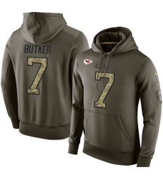 NFL Nike Kansas City Chiefs #7 Harrison Butker Green Salute To Service Men's Pullover Hoodie