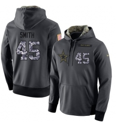 NFL Men's Nike Dallas Cowboys #45 Rod Smith Stitched Black Anthracite Salute to Service Player Performance Hoodie