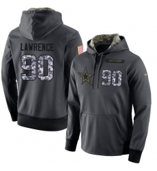 NFL Men's Nike Dallas Cowboys #90 Demarcus Lawrence Stitched Black Anthracite Salute to Service Player Performance Hoodie