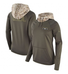 NFL Women's Dallas Cowboys Nike Olive Salute to Service Performance Pullover Hoodie