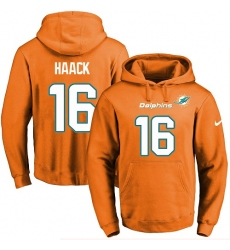NFL Men's Nike Miami Dolphins #16 Matt Haack Orange Name & Number Pullover Hoodie