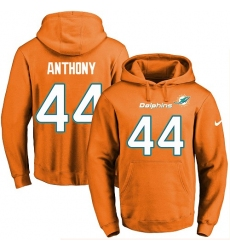 NFL Men's Nike Miami Dolphins #44 Stephone Anthony Orange Name & Number Pullover Hoodie