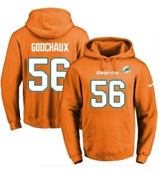 NFL Men's Nike Miami Dolphins #56 Davon Godchaux Orange Name & Number Pullover Hoodie