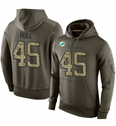 NFL Nike Miami Dolphins #45 Mike Hull Green Salute To Service Men's Pullover Hoodie
