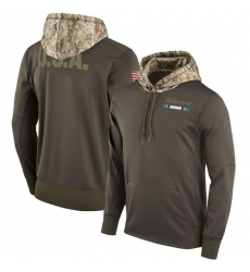 NFL Youth Miami Dolphins Nike Olive Salute to Service Sideline Therma Pullover Hoodie
