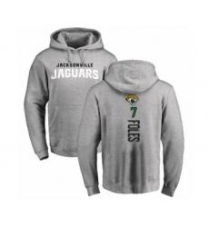 Football Jacksonville Jaguars #7 Nick Foles Ash Backer Pullover Hoodie