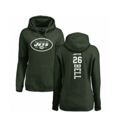 Football Women's New York Jets #26 Le'Veon Bell Green Backer Pullover Hoodie