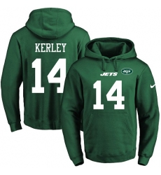 NFL Men's Nike New York Jets #14 Jeremy Kerley Green Name & Number Pullover Hoodie