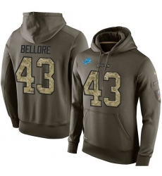 NFL Nike Detroit Lions #43 Nick Bellore Green Salute To Service Men's Pullover Hoodie