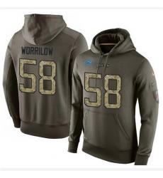 NFL Nike Detroit Lions #58 Paul Worrilow Green Salute To Service Men's Pullover Hoodie