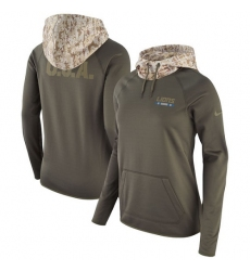 NFL Women's Detroit Lions Nike Olive Salute to Service Performance Pullover Hoodie