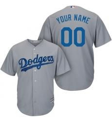 Men's Los Angeles Dodgers Majestic Gray Road Alternate Cool Base Custom Jersey