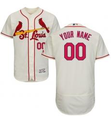 Men's St. Louis Cardinals Majestic Alternate Ivory Flex Base Authentic Collection Custom Jersey