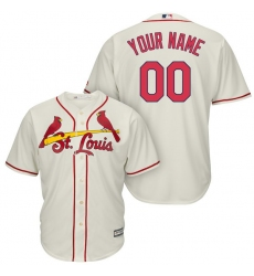 Men's St. Louis Cardinals Majestic Cream Alternate Cool Base Custom Jersey