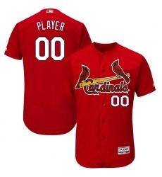 Men's St. Louis Cardinals Majestic Fashion Scarlet Flex Base Authentic Collection Custom Jersey