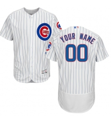 Men's Chicago Cubs Majestic Home White/Royal Flex Base Authentic Collection Custom Jersey