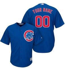 Men's Chicago Cubs Majestic Royal Cool Base Custom Jersey