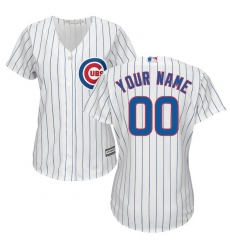Women's Chicago Cubs Majestic White Home Cool Base Custom Jersey