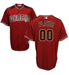 Men's Arizona Diamondbacks Majestic Sedona Red/Black Cool Base Custom Jersey