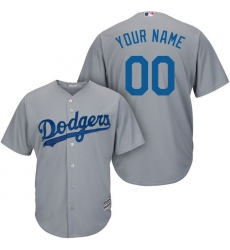 Men's Los Angeles Dodgers Majestic Gray Road Alternate Cool Base Custom Jersey