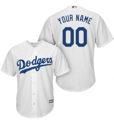 Men's Los Angeles Dodgers Majestic White Home Cool Base Custom Jersey