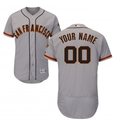Men's San Francisco Giants Majestic Road Gray Flex Base Authentic Collection Custom Jersey