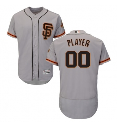 Men's San Francisco Giants Majestic Alternate Gray Flex Base Authentic Collection Custom Jersey