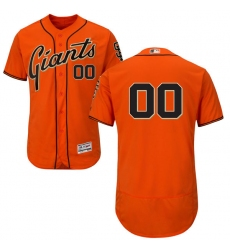 Men's San Francisco Giants Majestic Alternate Orange Flex Base Authentic Collection Custom Jersey