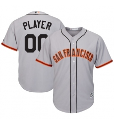 Men's San Francisco Giants Majestic Gray Cool Base Custom Jersey