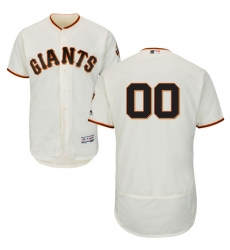 Men's San Francisco Giants Majestic Home Ivory Flex Base Authentic Collection Custom Jersey