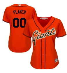 Women's San Francisco Giants Majestic Orange Cool Base Alternate Jersey