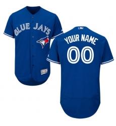 Men's Toronto Blue Jays Majestic Alternate Royal Flex Base Authentic Collection Custom Jersey
